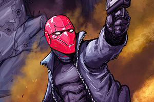 Red Hood Shooting Wallpaper