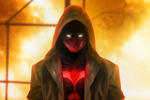Red Hood Superhero 4k
