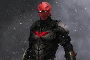 Red Hood Superhero Art