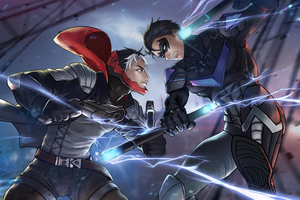 Red Hood VS Nightwing