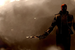 Red Hood With Knive Wallpaper