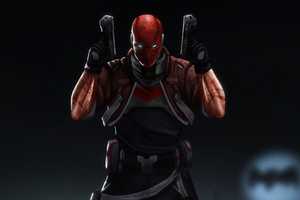 Red Hood With Two Guns 4k Wallpaper