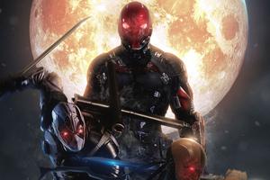 Red Hood X Deadpool X Deathstroke 4k Wallpaper