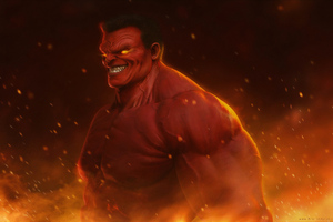 Red Hulk 4k Wallpaper