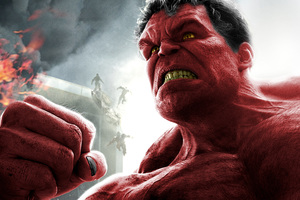Red Hulk 8k Wallpaper