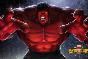 Red Hulk Contest Of Champions 4k Wallpaper