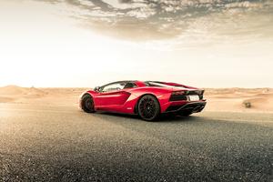 Red Lamborghini Aventador 2020
