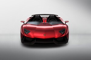 Red Lamborghini Aventador 4k