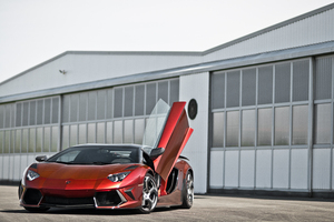 Red Lamborghini Aventador 5k 2019