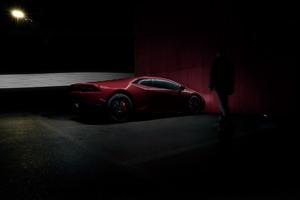 Red Lamborghini Huracan Rear 4k