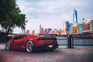 Red Lamborghini Huracan Supercar Vehicle