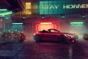 Red Mercedes AMG GT Roadster 5k Wallpaper