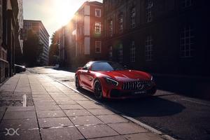 Red Mercedes Benz Amg Gt