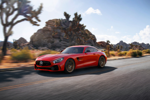 Red Mercedes Benz Amg Gt R 4k