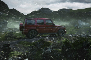 Red Mercedes G Wagon Wallpaper