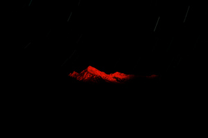 Red Mountain Starry Night Dark 5k