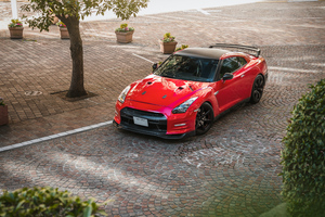 Red Nissan Gtr 5k Wallpaper