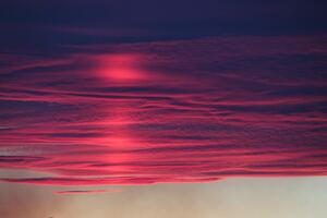 Red Pink Burning Clouds 4k