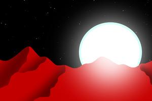 Red Planet Night Minimal 4k
