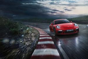 Red Porsche 918