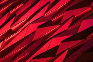 Red Sharp Shapes Texture 4k Wallpaper