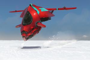 Red Ship Scifi 4k