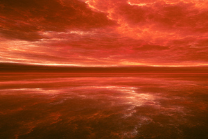 Red Sky Abstract 4k