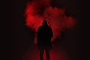 Red Smoke Background Person 5k Wallpaper