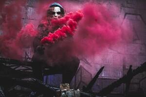 Red Smoke By Joker Wallpaper