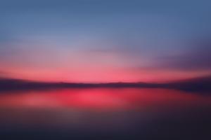 Red Sunset Blur Minimalist 5k Wallpaper
