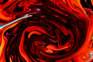 Red Swirl Float Abstract 4k