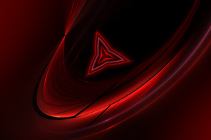 Red Triangle Abstract 4k Wallpaper