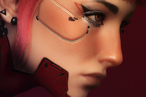 Red V Cyberpunk 2077 Wallpaper