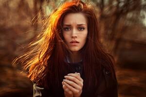 Redhead Girl Wallpaper
