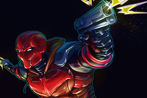 Redhood Illustration Art 4k