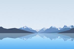 Reflection Lake Landscape Mountains 4k