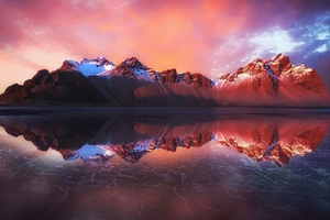 Reflection Of Mountains In Water