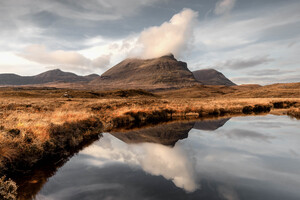 Reflections At Quinag Mountains 5k Wallpaper