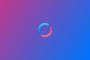 Refresh Logo Minimalism 4k