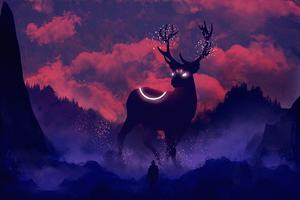 Reindeer Digital Art