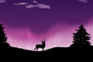 Reindeer Forest Of Serenity 4k Wallpaper