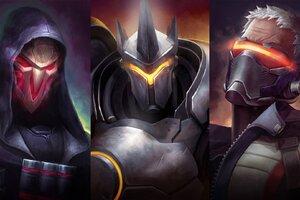 Reinhardt Reaper Soldier 76 Overwatch Artwork Wallpaper