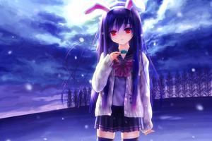 Reisen Udongein Inaba Anime Girl 4k Wallpaper