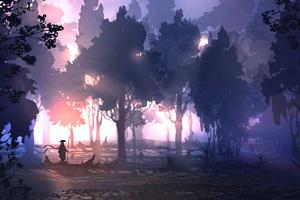 Remembering Digital Art Landscape 5k