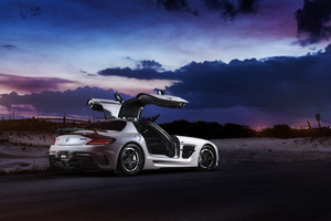 Renntech Mercedes Benz Sls Black Series 4k Wallpaper
