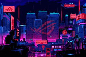 Republic Of Gamers 8 Bit Wallpaper