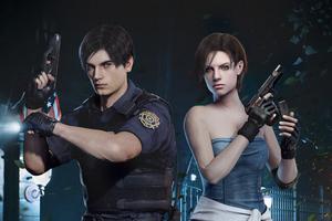 Resident Evil Leon X Jil 4k Wallpaper