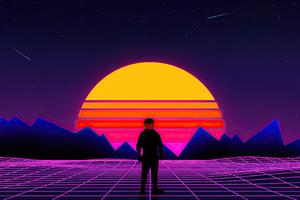Retro 80s Boy 4k Wallpaper