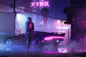 Retro Cyberpunk 2077 Neon Life 5k Wallpaper