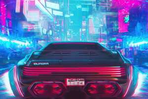 Retro Cyberpunk Ride 4k